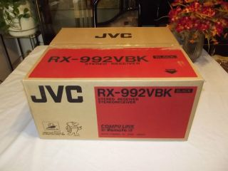 JVC RX 992VBK Stereo Receiver Amplifier 120 Watts New in Box