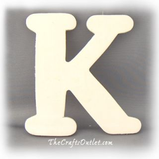 Letter K Plywood Unfinished Wood Home Decor