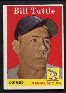 Bill Tuttle Kansas City Athletics 1958 Topps Card 23