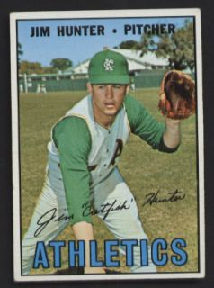 Jim Hunter Kansas City Athletics 1967 Topps Card 369
