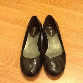 Cole Haan Nike Air Black Patent Leather Women Flats Shoes US Size 7 5