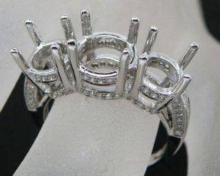 Stones 14kt White Gold Diamond Engagement Semi Mount Ring CT039