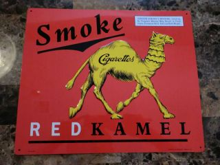 Collectible Smoke Cigarettes Red Kamel Tin Sign 1996 Mint