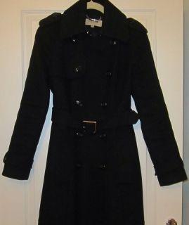 Karen Millen Black Wool Winter Coat Size 10