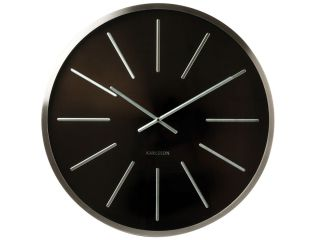Karlsson Giant Maxiemus Wall Clock, 24 Diameter, Black Face, Station