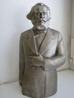 Soviet Metal Bust Statue Sculpture Karl Marx SC Teplov 1978