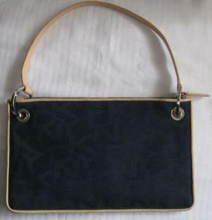 DKNY Donna Karan Navy Blue Logo Shoulder Bag Handbag