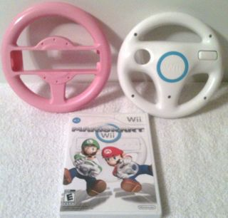 MARIO KART WII GAME WITH 2 STEERING WHEELS COMPLETE GAME READY TO PLAY