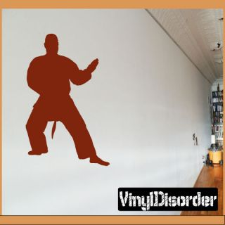 Karate Al 034 Sports Vinyl Decal Car or Wall Sticker Mural