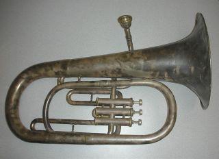 Antique Karl Schubert Czechoslovakia J W Jenkins Special Baritone Tuba
