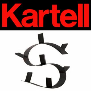 Kartell Bookworm Short Design by Ron Arad Black New