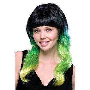 Black Green Lantern Katy Perry Halloween Costume Wig