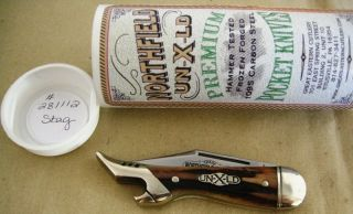 Great Eastern Cutlery French Kate Stag Single Blade Folding Lady Leg