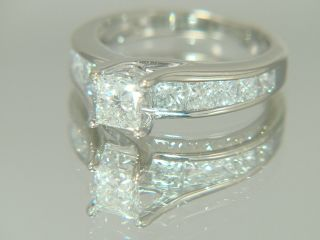 Carat Kay Jewelers Princess Cut Diamond Engagement Ring 14K White