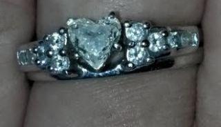 Kay Jewelers Diamond Wedding Ring Set Heart Shaped Solitaire W/ Wrap 7