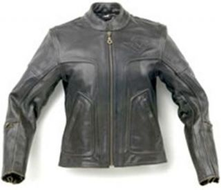 Genuine Kawasaki Vulcan Black Top Leather Jacket Medium