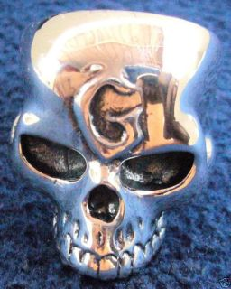 Keith Richards G Skull Rocker Biker 100 Silver 925 Ring