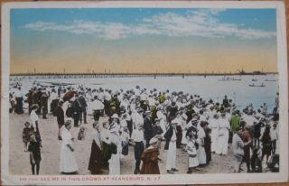 1918 Postcard Beach View Keansburg New Jersey NJ