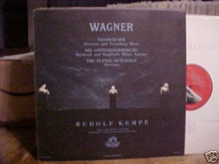 Wagner Music Rudolf Kempe Conducts Berlin ORCH Angel