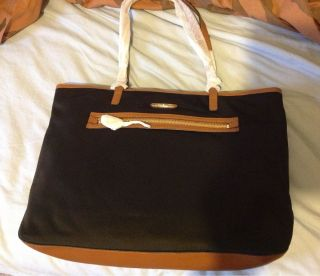 New Michael Kors Kempton Large North South Travel Black Tote Bag