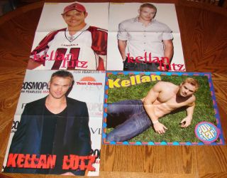 Kellan Lutz 4 Poster SHIRTLESS Male CK Hunk Lot KL1