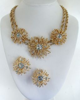 Kenneth J Lane KJL Avon Regal Riches Necklace Earrings Set 1992
