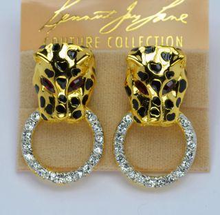 Kenneth Jay Lane KJL Door Knocker Clip Earrings