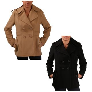 Kenneth Cole New York Double Breasted Womens Peacoat Jacket Coat