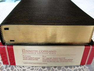 Kenneth Copeland Reference Bible Black Genuine Leather