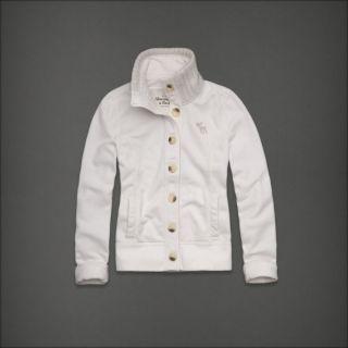 Abercrombie Fitch MC Kenna Womens Hoodie Sweatshirt White Small