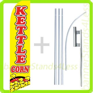 Feather Flutter Banner Sign Flag Kit Kettle Corn B4