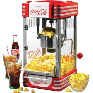Popcorn Machine w/ Stainless Steel Kettle Popper Home Retro Corn Maker