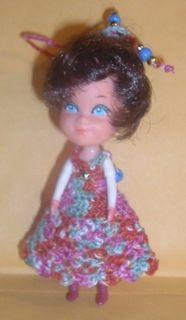Handmade Crochet clothes fit vintage Mattel 3 THE LITTLES 2 Lil BRATZ