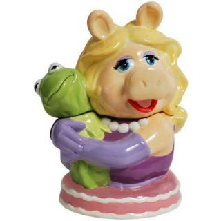 Miss Piggy the Pig Hugging Kermit the Frog Ceramic Cookie Jar 11693