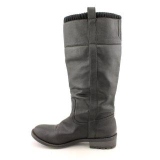 Used Kensie Girl Sendra Womens Size 10 Black Leather Fashion Knee High