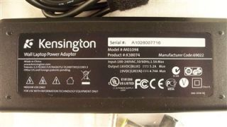 Kensington M01098 K38074 Laptop Universal AC Power Adapter w 9 Tips