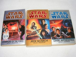 WARS   JEDI ACADEMY TRILOGY by KEVIN J. ANDERSON 3 PAPERBACK BOOK LOT