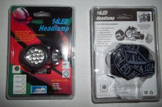 New 14 LED Head Band Mounted Light Hard Hat Bright Headlamp Flashlight