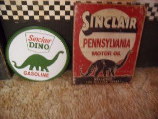 Sinclair Dino Gasoline Oil Tin Signs