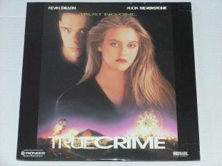 Crime Laserdisc Alicia Silverstone Kevin Dillon Pat Verducci LD