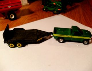 64 Ertl Farm Toy Tonka Ford F 350 Truck With Trailer Tractor