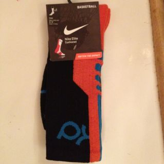 Kevin Durant Kd Nike Elite Socks 2 0 Large L 8 12 Orange Black Blue