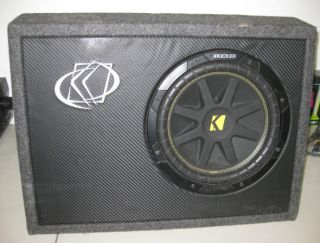 Kicker 10TC104 10 Inch SUBWOOFER Slim Single Voice Coil 4 Ohm (used
