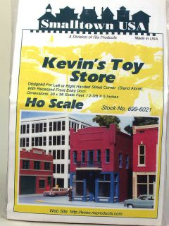 Smalltown USA HO Scale Kevins Toy Store Kit