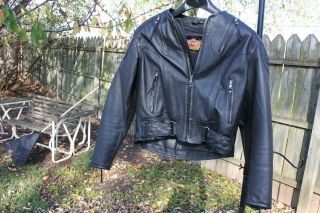 Davidson Kevlar Leather Jacket Womens Medium Motorcycle Scott Parker