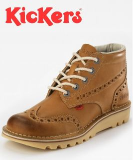 Kickers Kick Hi Boots SKU No 111693 Mens Kick Brogue Tan Boot N E W