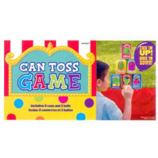 Kids Birthday Party Can Toss with Balls Party Game