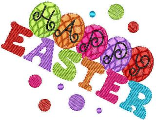 Easter Titles Kids Machine Embroidery Designs PES EST20