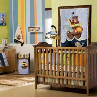 Kids Line Ark Animals Boys 6 Piece Crib Set