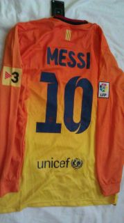 Oficial Nike Barcelona Messi Soccer Jersey Long Sleeve 2012